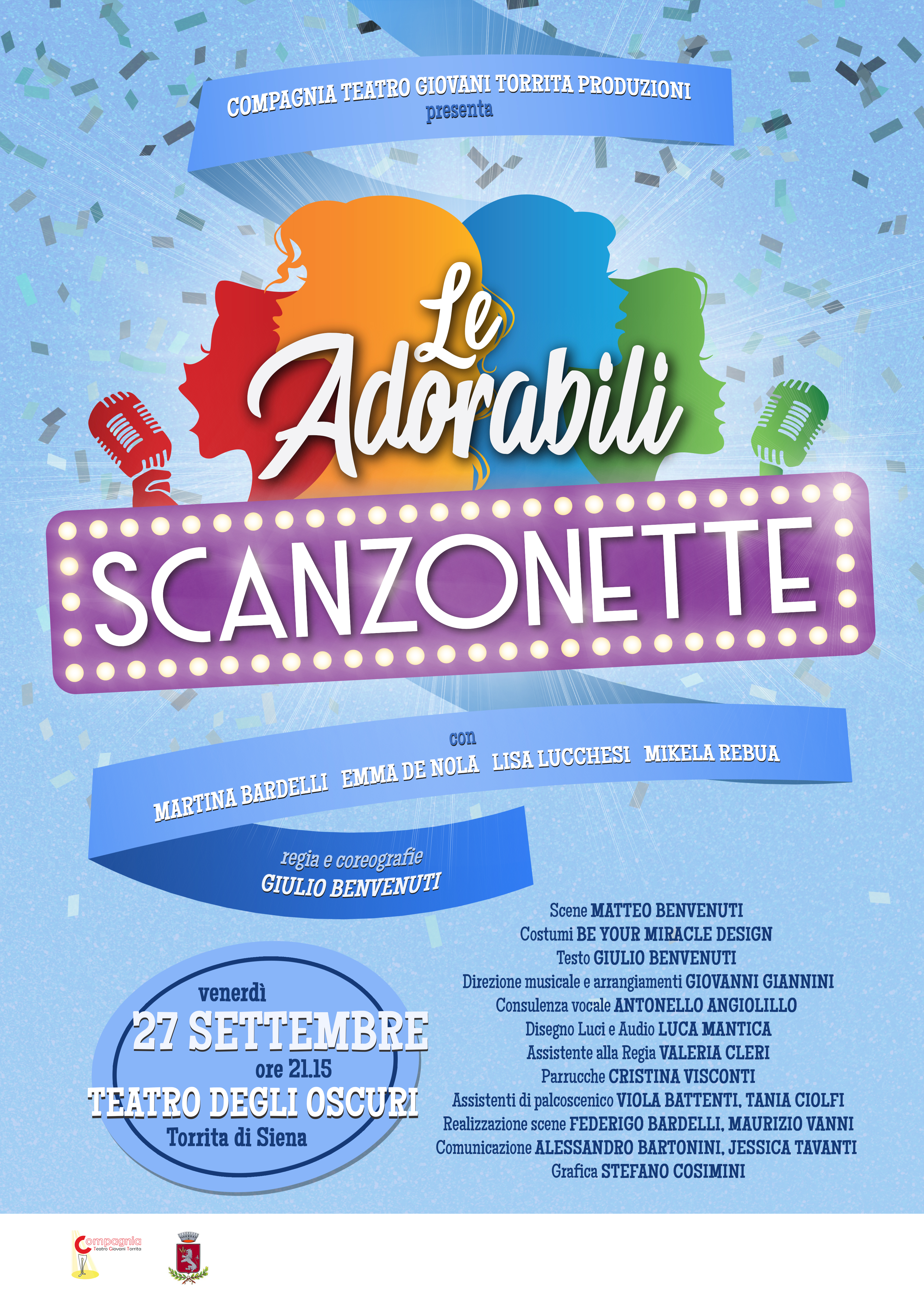 A draft for the musical Le Adorabili Scanzonette